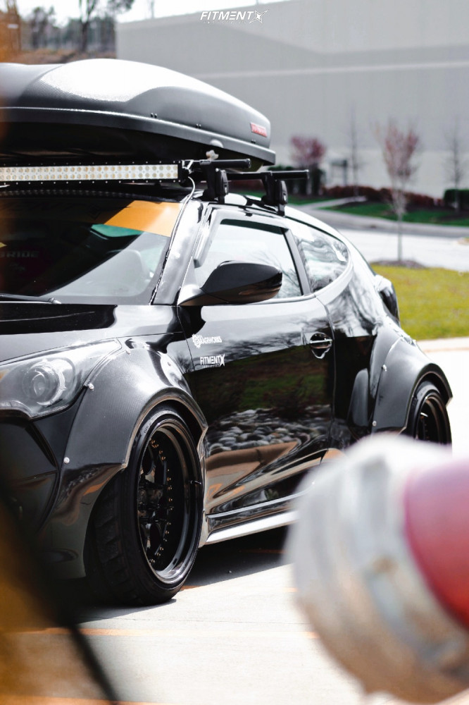 8 2015 Veloster Hyundai Turbo Cxracing Coilovers Aodhan Ds01 Black