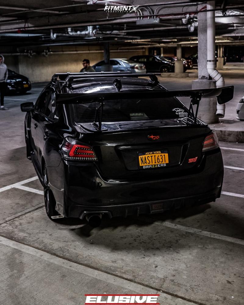 3 2019 Wrx Sti Subaru Limited Bc Racing Coilovers Konig Dekagram Matte Black