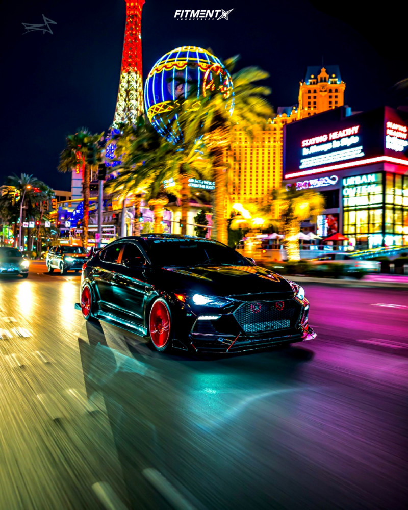 Nearly Flush 2018 Hyundai Elantra with 18x8.5 F1R F101 and Federal Formoza Az01 215/40 on Coilovers - Fitment Industries Gallery