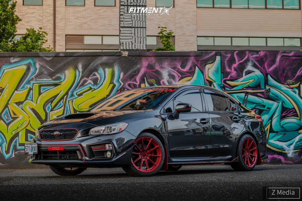 Flush 2018 Subaru WRX with 18x9.5 F1R F101 and Nankang NS-25 245/40 on Stock Suspension - Fitment Industries Gallery
